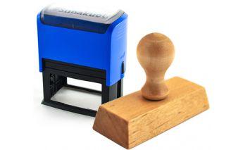 Individual wooden or rectangular stamp manufacturing