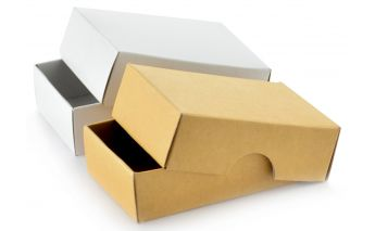 Kaheosaline kinkekarp valmistatud papist