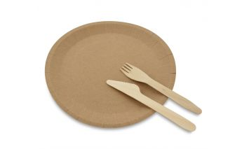 Organic plates made from recycled kraft paper