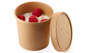 Eco-friendly paper Soup container ECO SOUP with lid