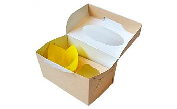 Eco-friendly muffin box ECO MUF with window