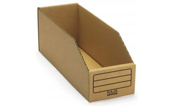 Cardboard container box for documents