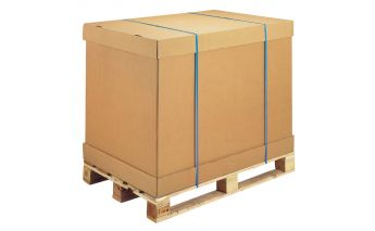 Cardboard pallet boxes for Euro standard pallets 80x120 cm