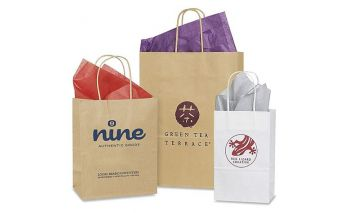 Individual silkscreen and offset printing on paper bags