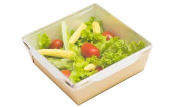 Eco-friendly food box ECO OPSALAD made of organic kraft cardboard