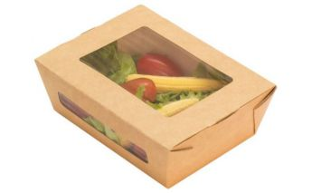 Eco-friendly paper food box ECO SALAD with window
