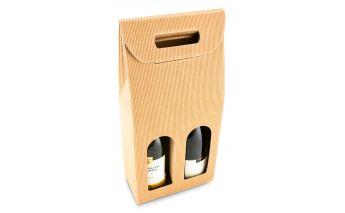 Aknaga kinkekarp kahele pudelile