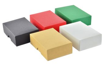 Colored two-pieces cardboard gift box
