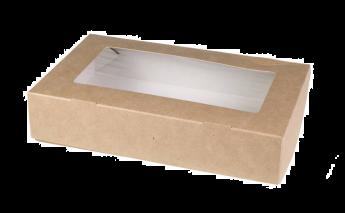 Коробки ECO TABOX с окошком для прямого контакта с пищевыми продуктами