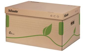 Karp Esselte on valmistatud  taaskäideldud vanapaberist
