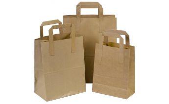 Flat kotid, mis on valmistatud ümbertöödeldud paberist ja millel on sangad