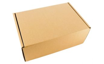 Quick - closing cardboard box suitable for self-service terminals