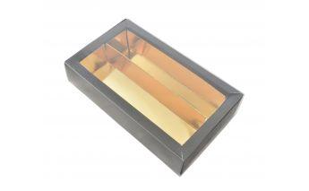 Подарочная коробка для сладостей с прозрачной крышкой и вставкой