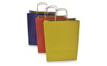 Värvilised jõupaberist paberkotid
